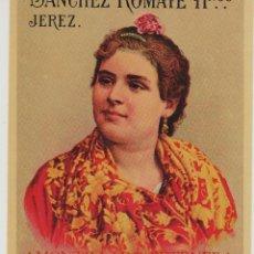 Etiquetas antiguas: SÁNCHEZ ROMATE HNOS . JEREZ . AMONTILLADO PETENERA . .ETIQUETA DE VINO ORIGINAL. Lote 280117408