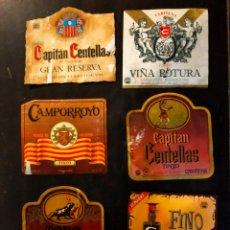 Etiquetas antiguas: 6 VIEJAS ETIQUETAS DE VINO CARIÑENA ZARAGOZA BODEGAS. Lote 280118873