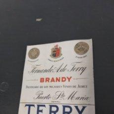 Etichette antiche: ETIQUETA BRANDY TERRY ANTIGUA JEREZ. Lote 282068173