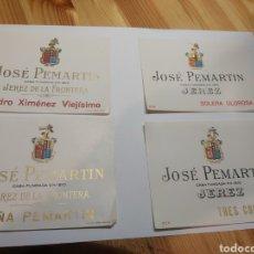 Etiquetas antigas: ETIQUETAS JOSÉ PEMARTIN JEREZ. Lote 286766318