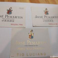 Etiquetas antigas: ETIQUETAS JOSÉ PEMARTIN JEREZ. Lote 286766543