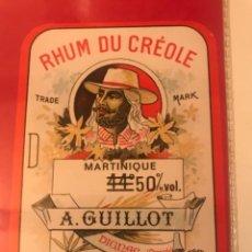Etiquetas antiguas: ETIQUETA RHUM. A. GUILLOT. MARTINIQUE.. Lote 288038238