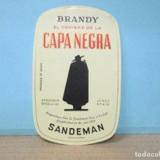 Etiquetas antiguas: ANTIGUA ETIQUETA, BRANDY CAPA NEGRA DE SANDEMAN. Lote 288384663