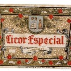 Etiquetas antiguas: ETIQUETA DE LICOR ESPECIAL, DE SUCESOR DE CALDERÓN, DE SANTANDER, AÑOS 40. Lote 288597793