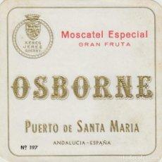 Etiquetas antiguas: OSBORNE . PUERTO DE SANTA MARÍA MOSCATEL ESPECIAL GRAN FRUTA - , ETIQUETA VINO ORIGINAL REF 55. Lote 288715913