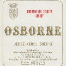 Etiquetas antiguas: OSBORNE . PUERTO DE SANTA MARÍA AMONTILLADO SELECTO SHERRY - , ETIQUETA VINO ORIGINAL REF 56. Lote 288716023