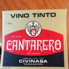 Etiquetas antiguas: MONASTERIO DE UCLES VINO ESPECIAL CIVINASA - TARANCON (CUENCA). Lote 289893653