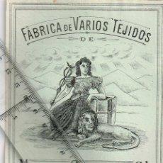 Etiquetas antiguas: 1908/30´S 5 ETIQUETAS IGUALES DIFERENTES COLORES, FABRICA VARIOS TEJIDOS MARTÍN SALINAS IGUALADA (3). Lote 293294138