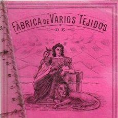 Etiquetas antiguas: 1908/30´S 5 ETIQUETAS IGUALES DIFERENTES COLORES, FABRICA VARIOS TEJIDOS MARTÍN SALINAS IGUALADA (4). Lote 293298478
