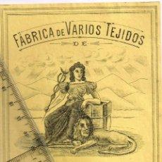 Etiquetas antiguas: 1908/30´S. ETIQUETA AMARILLO Y NEGRO FÁBRICA VARIOS TEJIDOS MARTÍN SALINAS IGUALADA (12). Lote 293422553