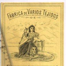 Etiquetas antiguas: 1908/30´S. ETIQUETA AMARILLO Y NEGRO FÁBRICA VARIOS TEJIDOS MARTÍN SALINAS IGUALADA (13). Lote 293423538