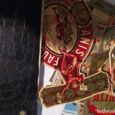 Etiquetas antigas: COLECCIÓN ANTIGUAS ETIQUETAS DESTILERÍA ALTIMIRAS. Lote 293948593