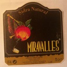 Etiquetas antigas: ETIQUETA SIDRA NATURAL MIRAVALLES. Lote 294083678