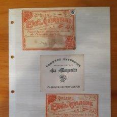 Etiquetas antiguas: ETIQUETAS ANTIGUAS - DIFERENTES - VARIAS (3). Lote 295456663