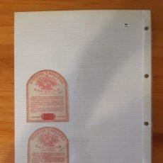 Etiquetas antiguas: ETIQUETAS ANTIGUAS - RON QUINA (2). Lote 295456838
