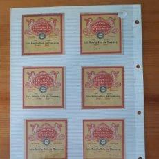 Etiquetas antiguas: ETIQUETAS ANTIGUAS - CAMPAÑA ESPAÑOLA DE ESENCIAS (6). Lote 295465548