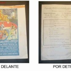 Facturas antiguas: FACTURA DE LA COMPAÑIA MADRILEÑA DE ALUMBRADO Y CALEFACCION POR GAS ,JEREZ DE LA FRONTERA 21/01/1914. Lote 19973200