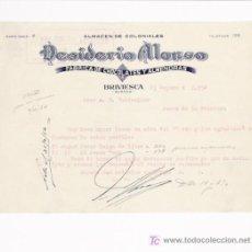 Facturas antiguas: BRIVIESCA(BURGOS)-FACTURA DE CHOCOLATES FABRICA DE CHOCOLATES Y ALMENDRAS ALMACEN DE COLONIALES.. Lote 8325260