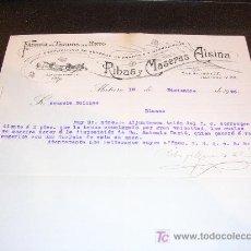 Facturas antiguas: FACTURA FABRICA DE TEJIDOS DE PUNTO, RIBAS MASERAS ALSINA, MATARO 1925. Lote 4582940