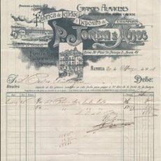 Facturas antiguas: FABRICA DE TEJIDOS JORBA. MANRESA. 1909. FABRICA EN CALDERS.. Lote 4676706