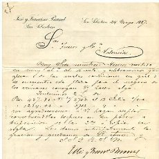 Fatture antiche: FACTURA JOSE Y FRANCISCO BRUNET , SAN SEBASTIAN , 1887 , F7. Lote 20215178