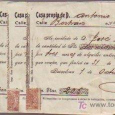 Faturas antigas: 13 RECIBOS VARIOS. CON MITAD DE SELLO FISCAL.. Lote 7547531