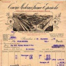 Fatture antiche: FACTURA. TENERIA MODERNA FRANCO ESPAÑOLA. BARCELONA 1928. Lote 7968365