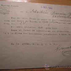 Facturas antiguas: FACTURA DE UN NOTARIO MERCANTIL DE CACERES, DON GONZALO ALVAREZ JAVATO, AÑO 1944. Lote 8450051