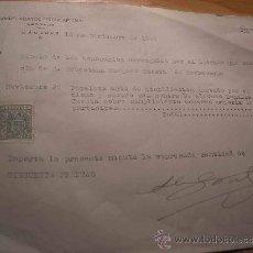 Facturas antiguas: FACTURA DE UN ABOGADO DE CACERES, MANUEL VELAYOS. AÑO 1944. Lote 8450100