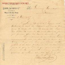 Facturas antiguas: FACTURA DE ALBORS SATORRE Y CIA FABRICA DE PAPEL ALCOY.VALENCIA. Lote 1188986