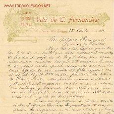 Fatture antiche: FACTURA DE VDA DE L.FERNANDEZ.SANTO DOMINGO DE LA CALZADA. Lote 1294296