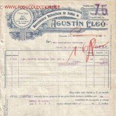 Facturas antiguas: VALENCIA. FACTURA DE AGUSTIN LLEO. MANUFACTURA VALENCIANA DE SEDAS.. Lote 8740232