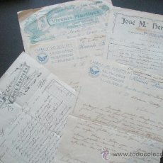 Facturas antiguas: DOCUMENTO.FACTURA.LOTE DE FACTURAS 1903,1913,1914,1914,1918....LOTE DE 5. Lote 19282020