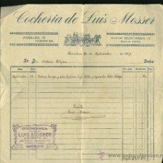 Facturas antiguas: COCHERIA DE LUIS MOSSER 1916. Lote 16322293