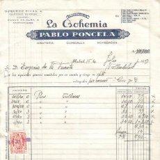 Facturas antiguas: MADRID. 1959. FACTURA DE ALMACENES LA BOHEMIA. PABLO PONCELA.. Lote 14309915