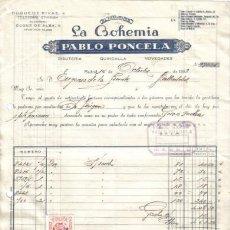 Facturas antiguas: MADRID. 1959. FACTURA DE ALMACENES LA BOHEMIA. PABLO PONCELA.. Lote 14309957