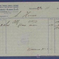 Facturas antiguas: FACTURA ALFOMBRAS, TAPICERÍA, LENCERÍA Y CORTINAJES. SANTAMARÍA Y ALEMENY S. EN C. BARCELONA, 1934.. Lote 14439644