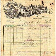 Facturas antiguas: VINOS FINOS GRANDES BODEGAS. HARO. LOGROÑO. R. LOPEZ DE HEREDIA Y CIA. FACTURA. MADRID. EQUITATIVA.. Lote 26370674