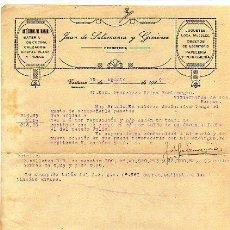 Facturas antiguas: JUAN DE SALAMANCA Y GIMENEZ. CASTUERA. BADAJOZ. 1920 JUGUETES. LOZA, OBJETOS DE ESCRITORIO, PERFUME. Lote 14688011