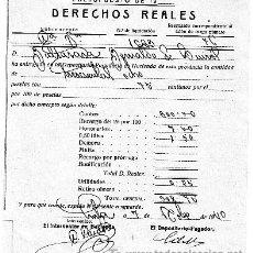 Facturas antiguas: RECIBO DE DERECHOS REALES DE AVILA-1940. Lote 17831410