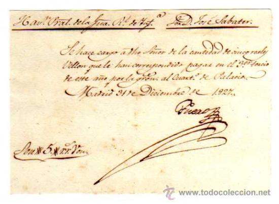 Facturas antiguas: Documento militar. Año 1827. Factura y recibos en Reales . Regimiento de Granaderos. - Foto 4 - 18064750