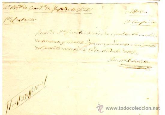 Facturas antiguas: Documento militar. Año 1827. Factura y recibos en Reales . Regimiento de Granaderos. - Foto 6 - 18064750
