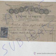 Facturas antiguas: ANTIGUA FACTURA FRANCESA.FRANCIA. LA BSBAL. GERONA. SELLOS. ETIENNE VERNETTE. . Lote 19160177