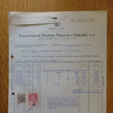 Facturas antiguas - FACTURA. BARCELONA 1959. MANUFACTURAS DE MONTURAS PARAGUAS Y SIMILARES. - 19418042