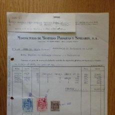 Facturas antiguas - FACTURA. BARCELONA 1959. MANUFACTURAS DE MONTURAS PARAGUAS Y SIMILARES. - 19418068