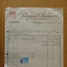 Facturas antiguas - FACTURA. PAMPLONA 1959. PARAGUAS ARCHANCO. INDUSTRIAS ARPA. - 19430098