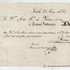 Facturas antiguas: FACTURA MANUSCRITA POR 3.314 REALES DE VELLÓN. SEVILLA 1853.. Lote 20541437