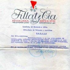 Facturas antiguas: FACTURA. FILLAT Y CIA. IGUALADA. 1934. FÁBRICA DE GÉNEROS DE PUNTO.. Lote 21711406