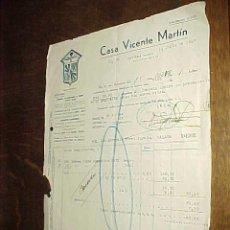 Facturas antiguas: GEVI. LABORATORIO INDUSTRIAL. FABRICA DE LAMPARAS DE NEON Y OTROS GASES. CASA VICENTE MARTIN. 1937. Lote 22947911