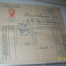 Facturas antiguas: FÁBRICA Y ALMACÉN DE GÉNEROS DE PUNTO: MONTAÑÉS, VALENCIA// PASCUAL MONTAÑÉS YUSTE-10 MAYO DE 1935. Lote 23431242